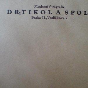 František Drtikol – původní originální firemní obálka – malá varianta