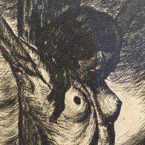 František Drtikol – Akt ukřižované ženy