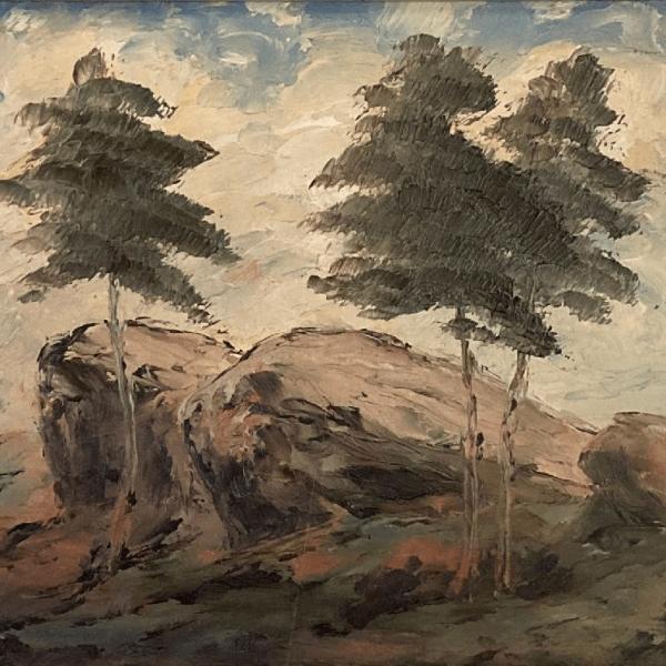 stromy se skálou