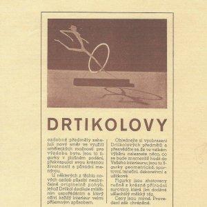 František Drtikol – Drtikolovy ozdobné předměty – plakát